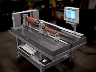 Automated Roller Shaft Diameter Runout Gage